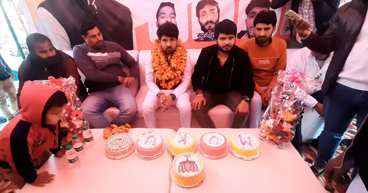 धूमधाम से मनाया गया युवा नेता मुकुल राघव का जन्मदिन