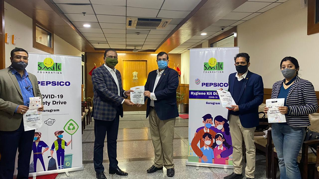 PepsiCo India handed over 20,000 reusable masks to the Gurugram police