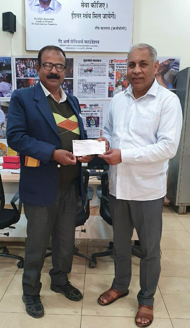 पौष पूर्णिमा पर सूर्य देव नखरौला ने दि अर्थ सेवियर फाउंडेशन अनाथालय को किया दान