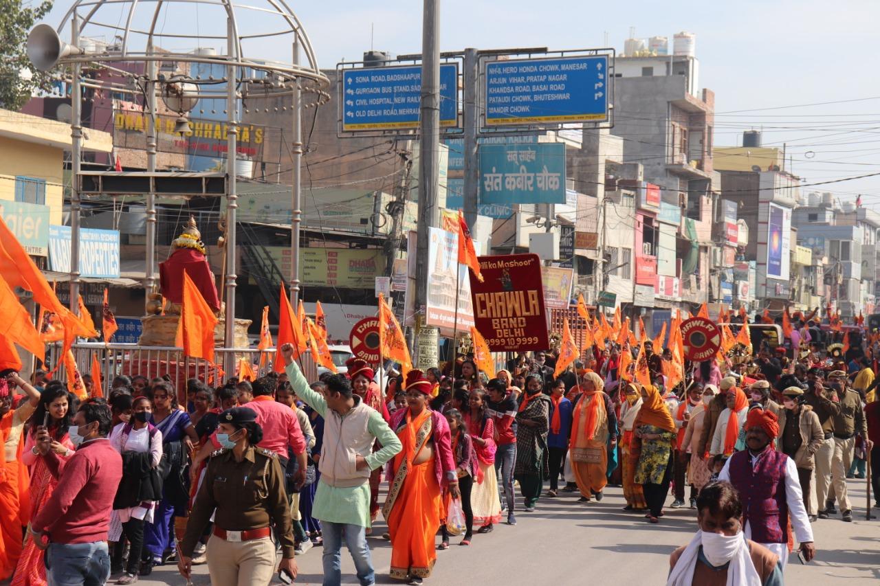 शोभायात्रा से शहर हुआ राममय-दिखाई दी राजतिलक की तैयारी