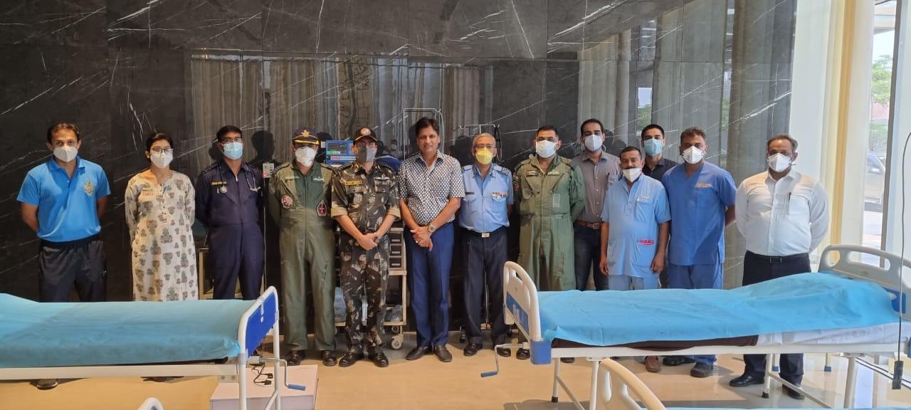 एम3एम ग्रुप और इंडियन एयर फोर्स ने गुरुग्राम में मिलकर बनाया 150 बेड वाला निःशुल्क कोविड केयर सेंटर