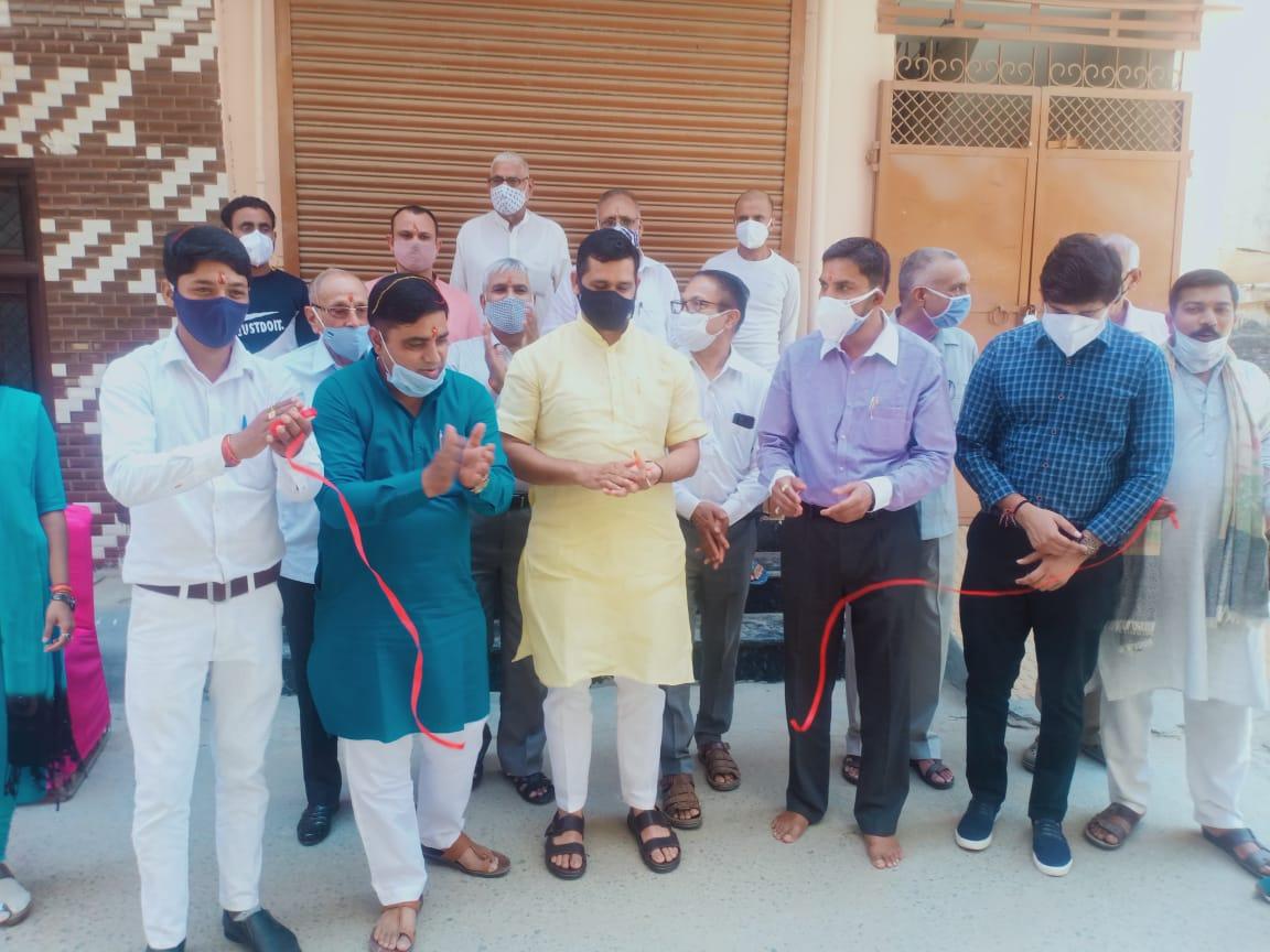 भाजपा युवा जिला अध्यक्ष सर्वप्रिय पिंटू त्यागी ने किया भगवान परशुराम परामर्श केंद्र का उद्घाटन